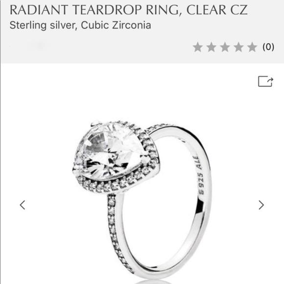 0388fcf5c Pandora Jewelry | Radiant Teardrop Ring Clear Cz | Poshmark